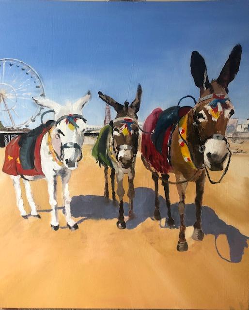 Blackpool donkeys portrait